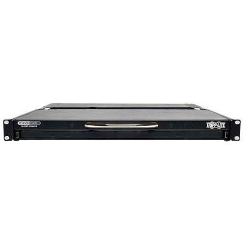8-Port IP Rack Console Cat5 KVM Switch 19in LCD 1+1 User 1URM