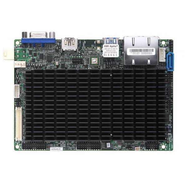 Barebone 3.5in SBC SuperServer, Single Intel Atom Processors, System-on-Chip, Up to 8GB DDR3L Non-ECC memory,  Dual GbE LAN ports