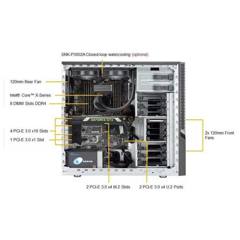 Supermicro SYS-5039AD-i Mid Tower Barebone Single Processor