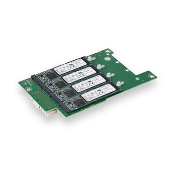 Supermicro AOM-B-4M-O Add-On Card for up four M.2 NVMe SSDs for SuperBlade Servers - Internal - Retail