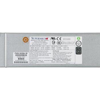 Supermicro PWS-1K23A-1R Power Supply 1U 1200W 80 Plus Titanium Certified, Redundant w/ PMBus