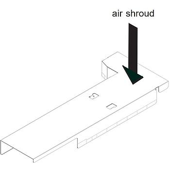 Supermicro MCP-310-51304-0B Mylar Air Shroud for SC513B + X11SPW